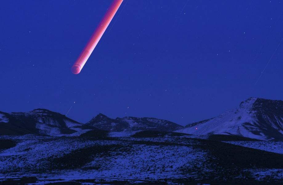 Luna roja ascendiendo