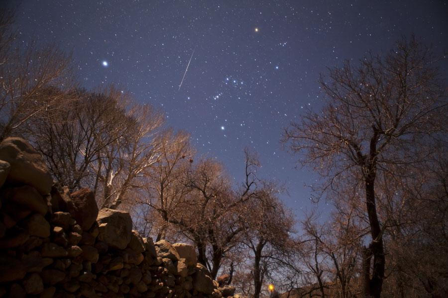 Un meteoro de las Gemínidas sobre Irán