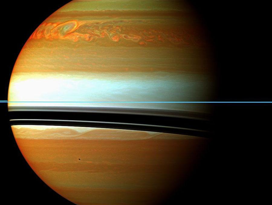Un furioso sistema de tormentas en Saturno