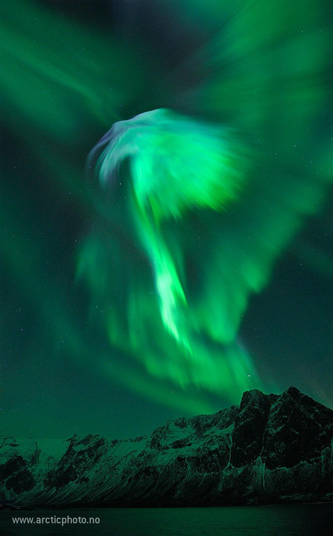 Aurora de enero sobre Noruega