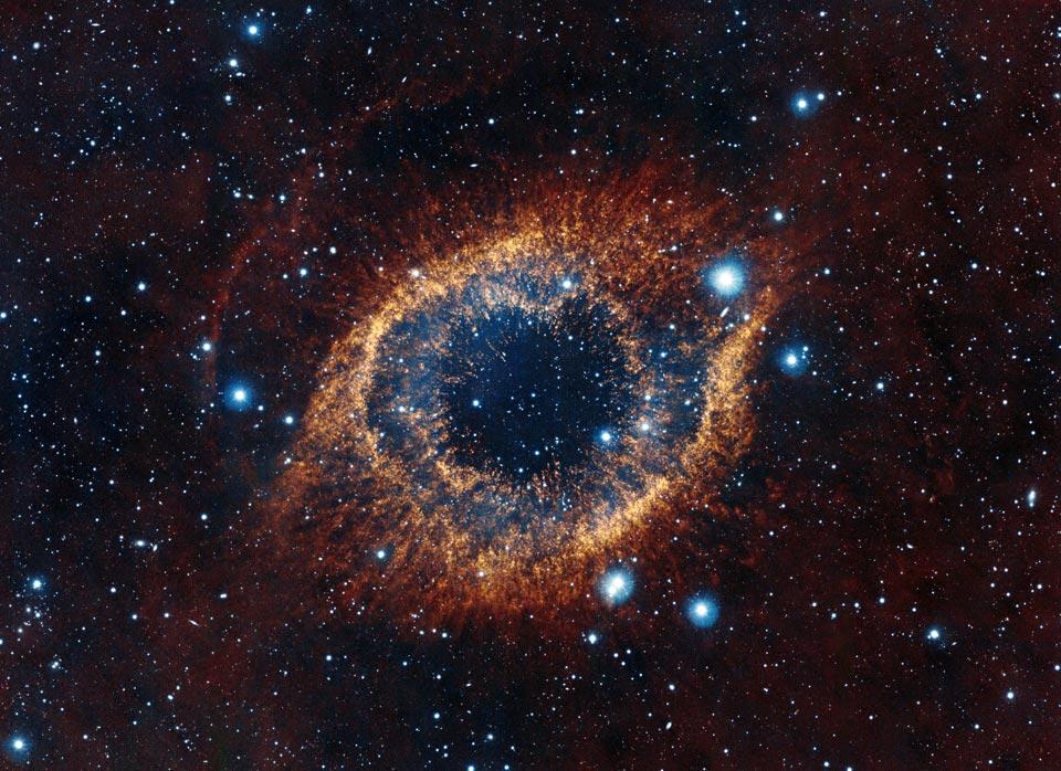 La nebulosa del Hélice desde el telescopio VISTA