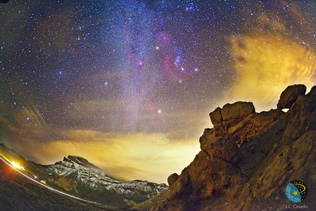 Orion sobre las Islas Canarias