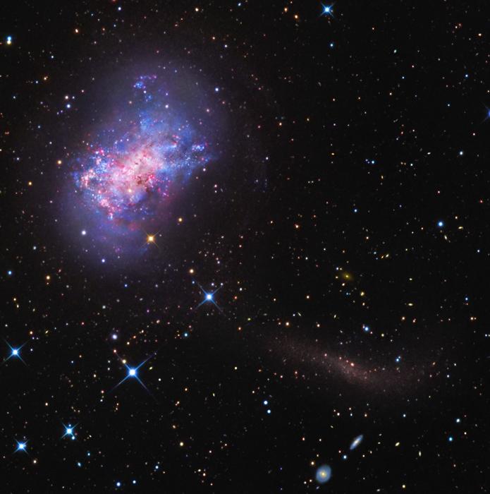 NGC 4449: Proud hvězd pro trpasličí galaxii