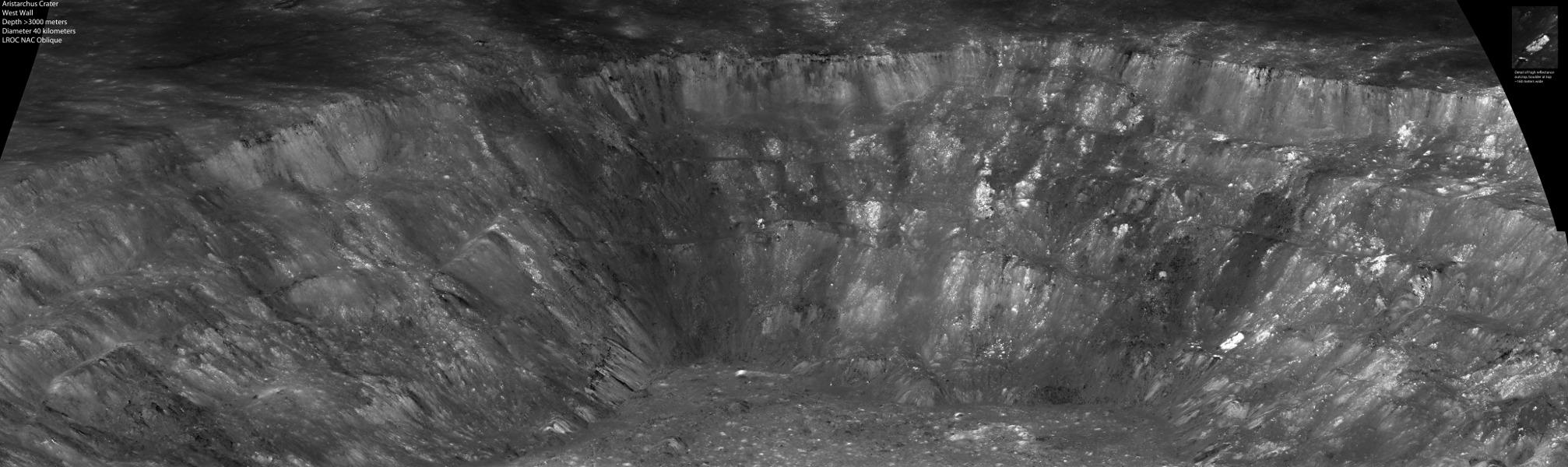 U západní stěny kráteru Aristarchus