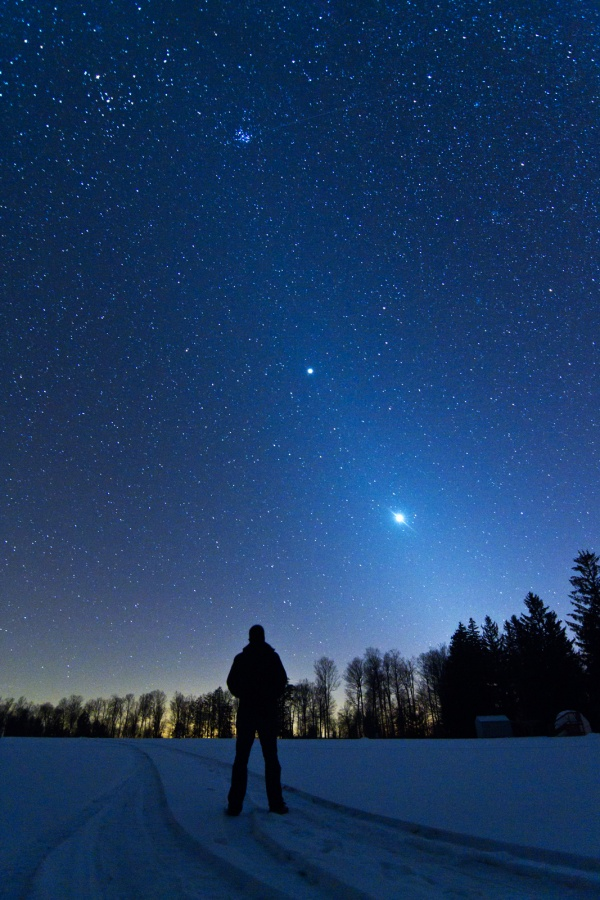 Un paisaje celeste zodiacal