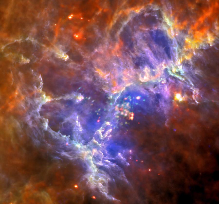 En el interior de la nebulosa del Águila