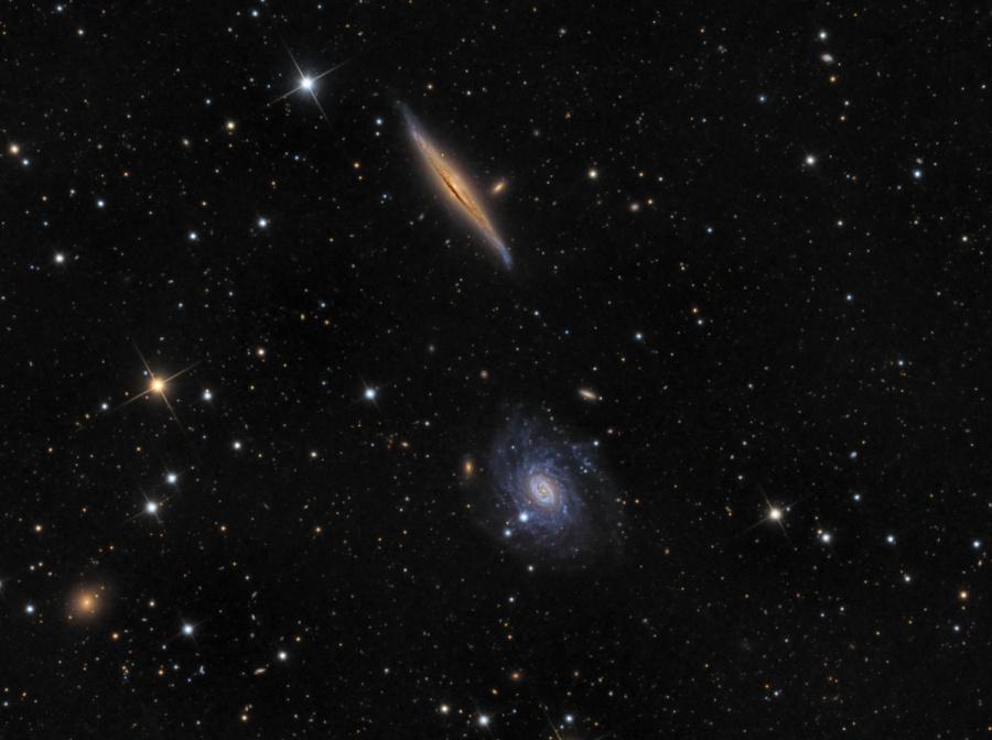 NGC 5965 y NGC 5963 en Draco