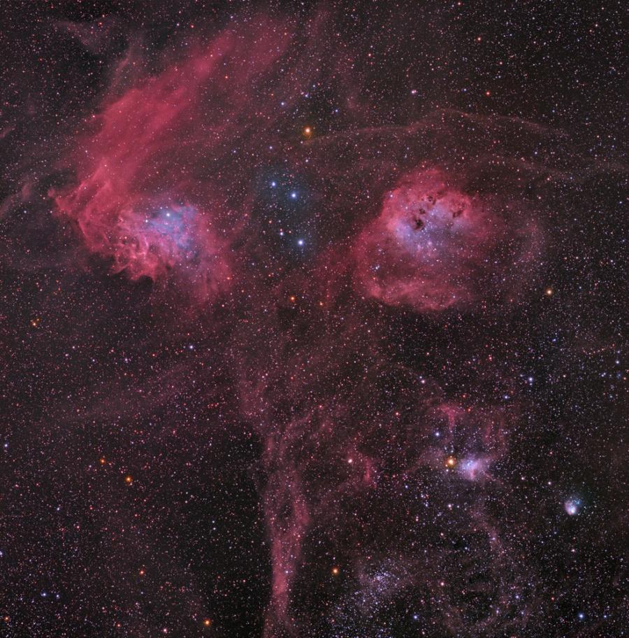 Las nebulosas de Auriga