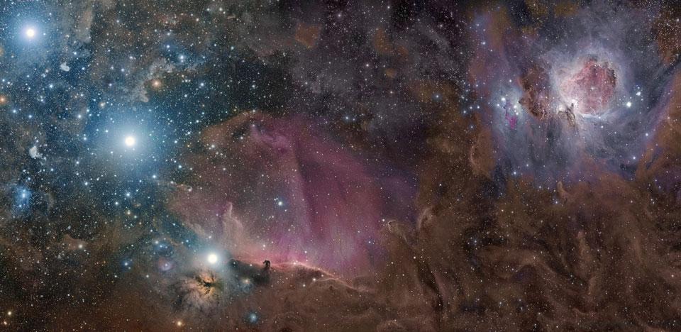 Orion entre gas, polvo y estrellas