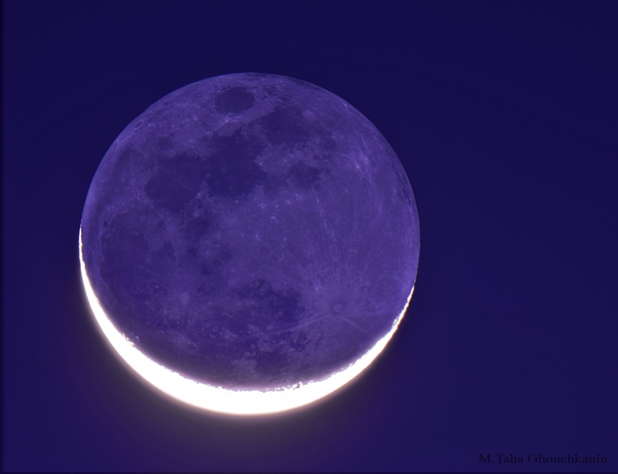 La Luna nueva en brazos de la Luna vieja