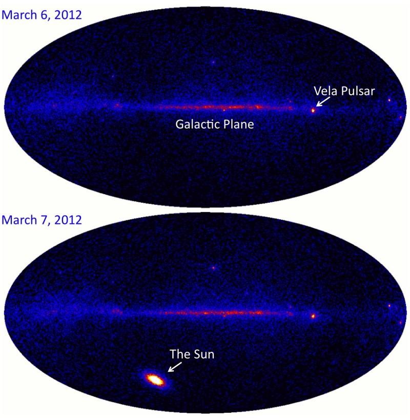 Llamarada solar en rayos gamma