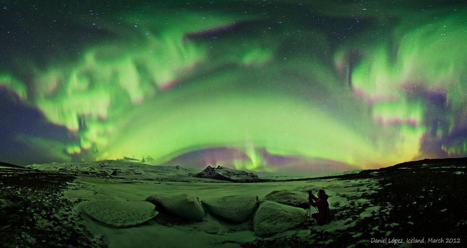 Aurora sobre Islandia