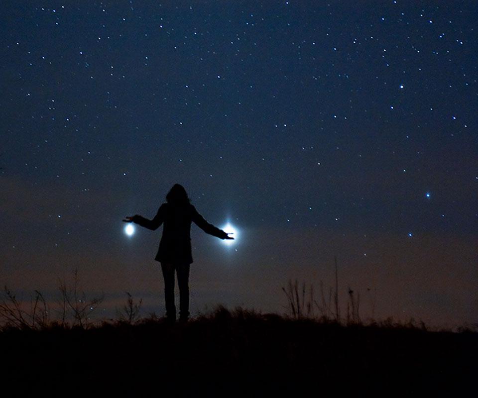 Júpiter y Venus desde la Tierra