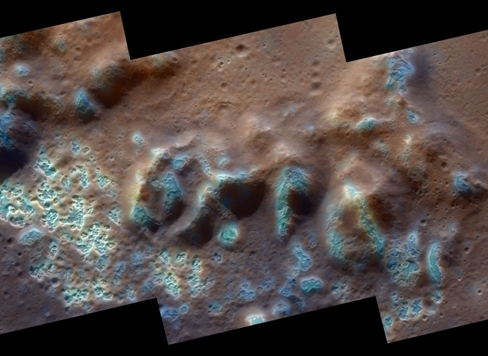 Huecos raros descubiertos en Mercurio