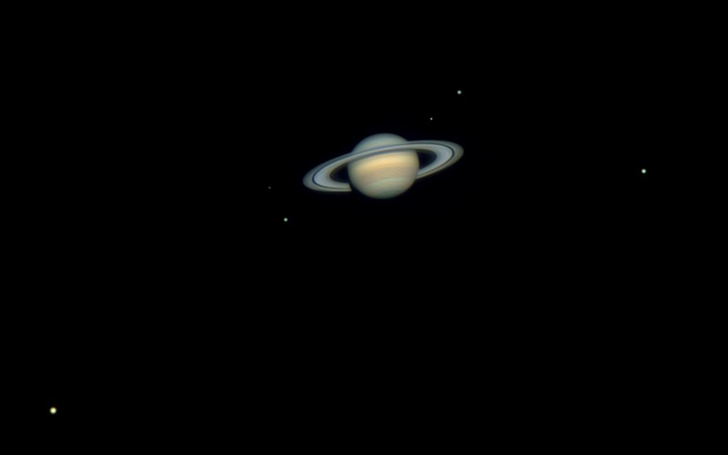 APOD: 2012 April 14 - Six Moons of Saturn