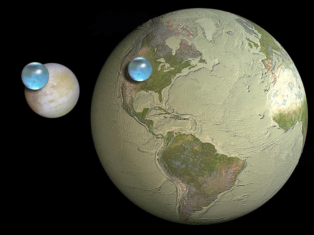 Resultado de imagen de Sí, según parece en Europa hay más agua que en la propia Tierra