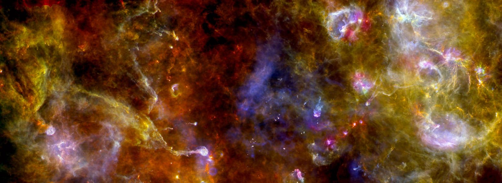 Cygnus X por el Observatorio Herschel