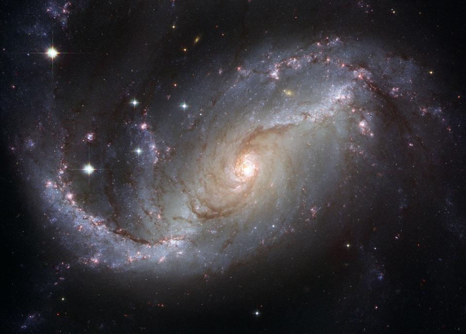 La galaxia espiral NGC 1672 desde el Hubble