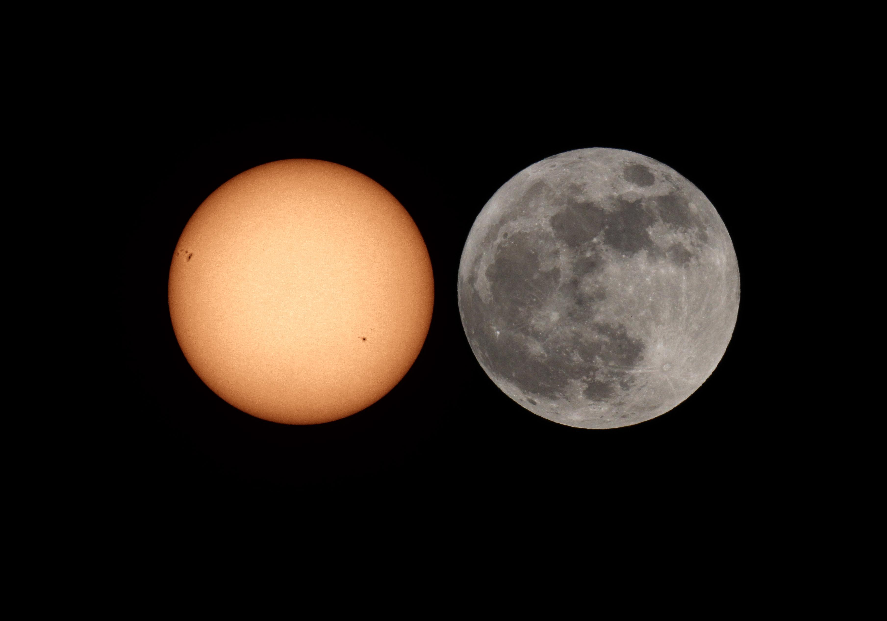 фото картинка изображение солнца и луны
