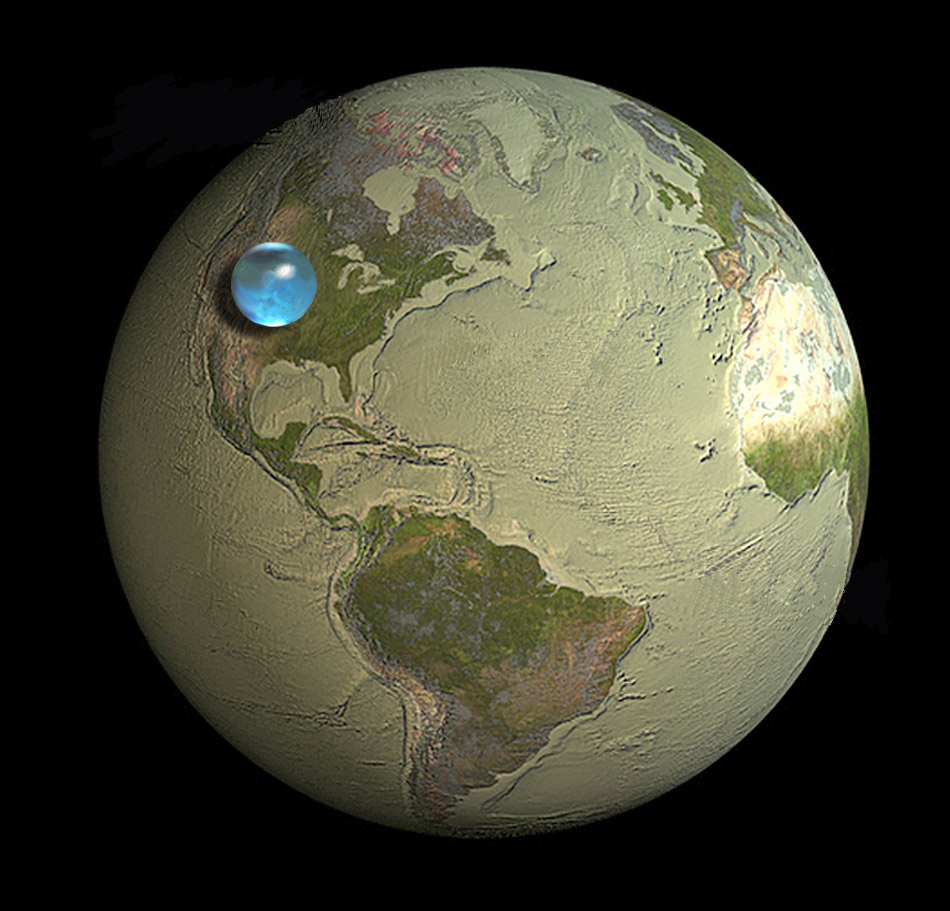 Amazingly, the earths water is really a miniscule amount
