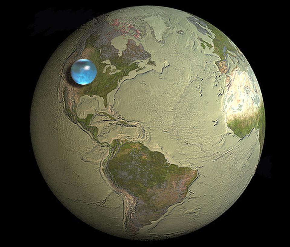 Toda el agua del planeta Tierra