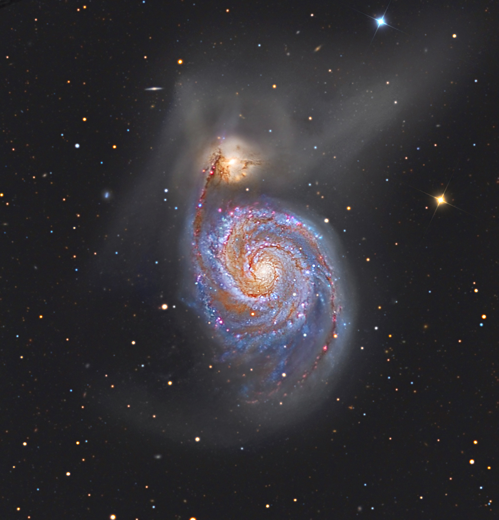 whirlpool galaxy hubble nasa center picture - photo #5