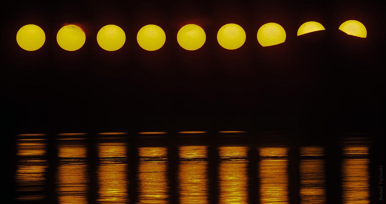 Venus transita el Sol de medianoche