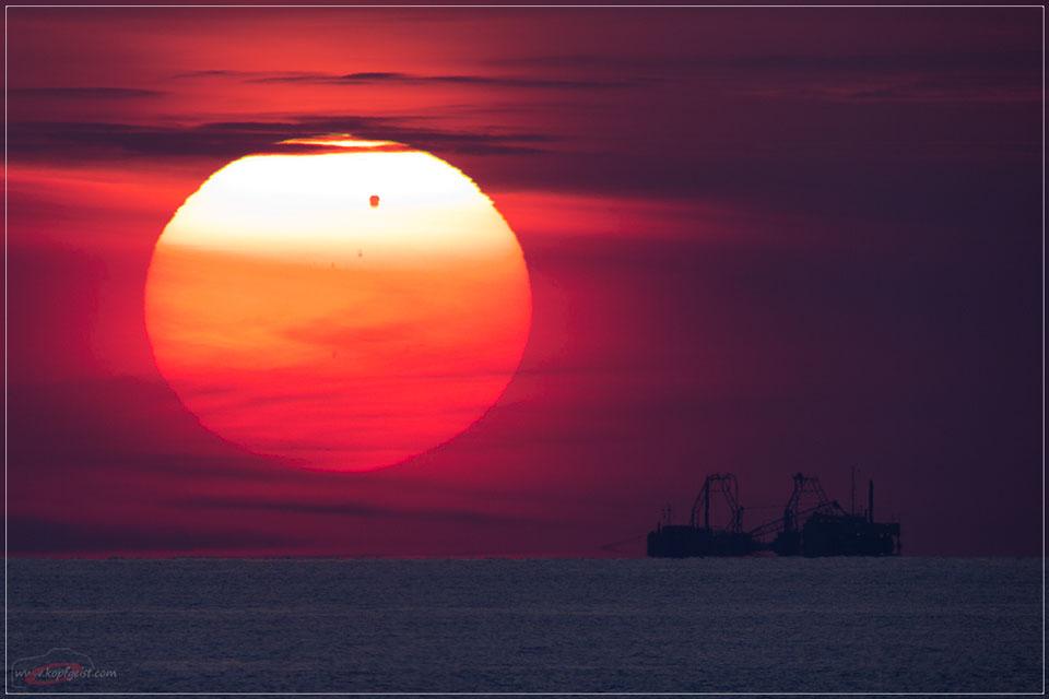 Un tránsito de Venus sobre el mar Báltico