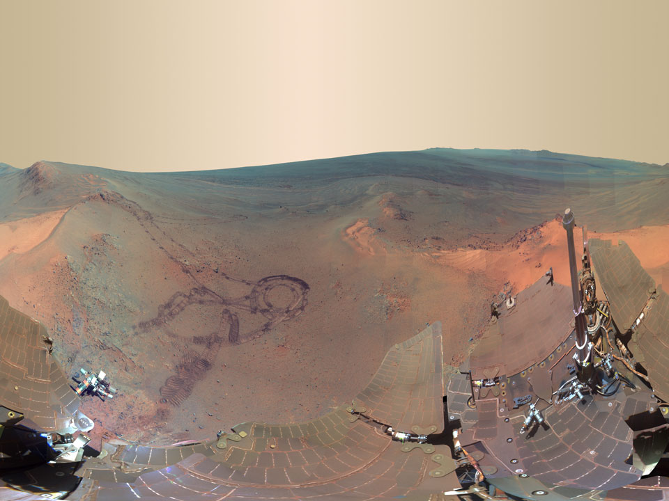 Panorámica de Greeley en Marte