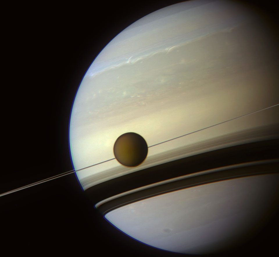 In the Shadow of Saturn's Rings Image Credit: NASA/JPL-Caltech/Space Science Institute/J. Major