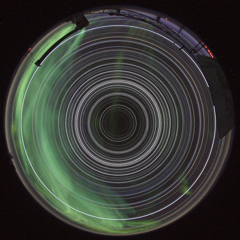 Rastros estelares en el Polo Sur
