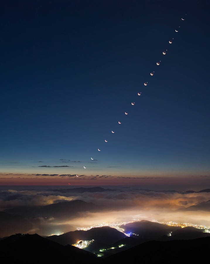 La Luna se encuentra con la estrella de madrugada