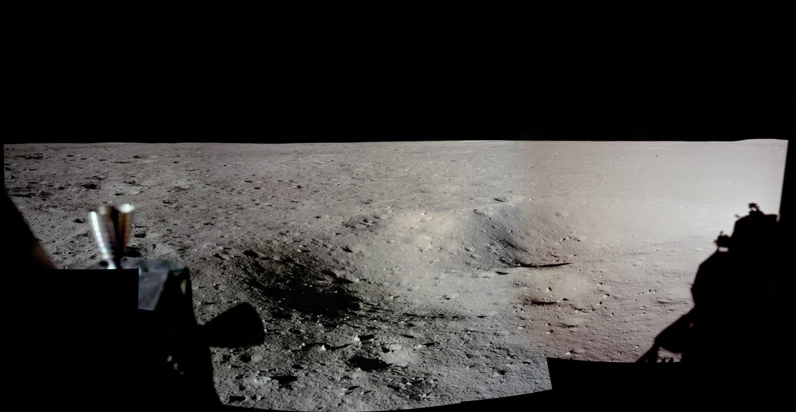 APOD: 2012 August 30 - Apollo 11 Landing Site Panorama