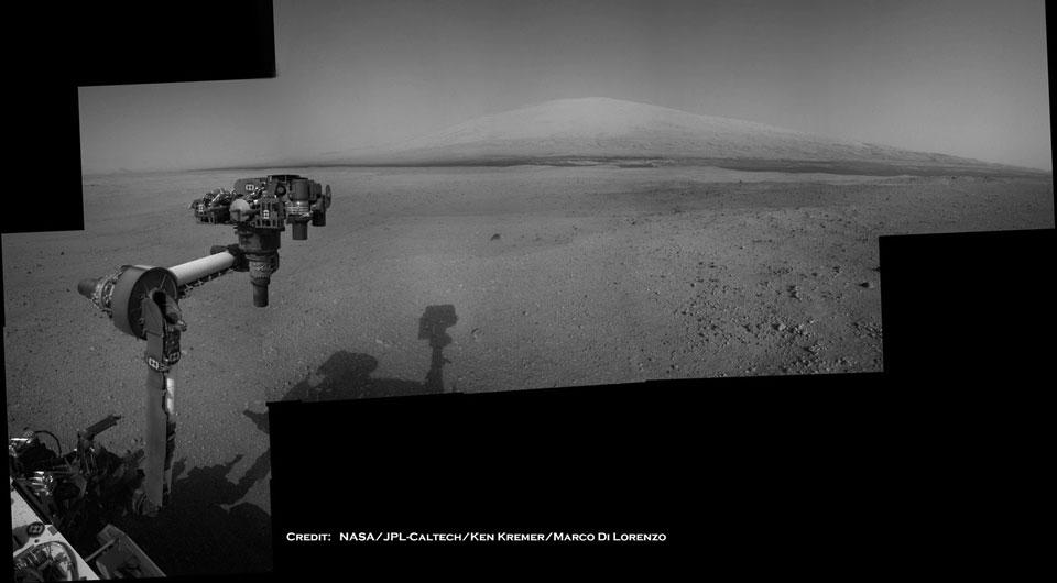 El Curiosity en Marte: el Monte Sharp a la vista