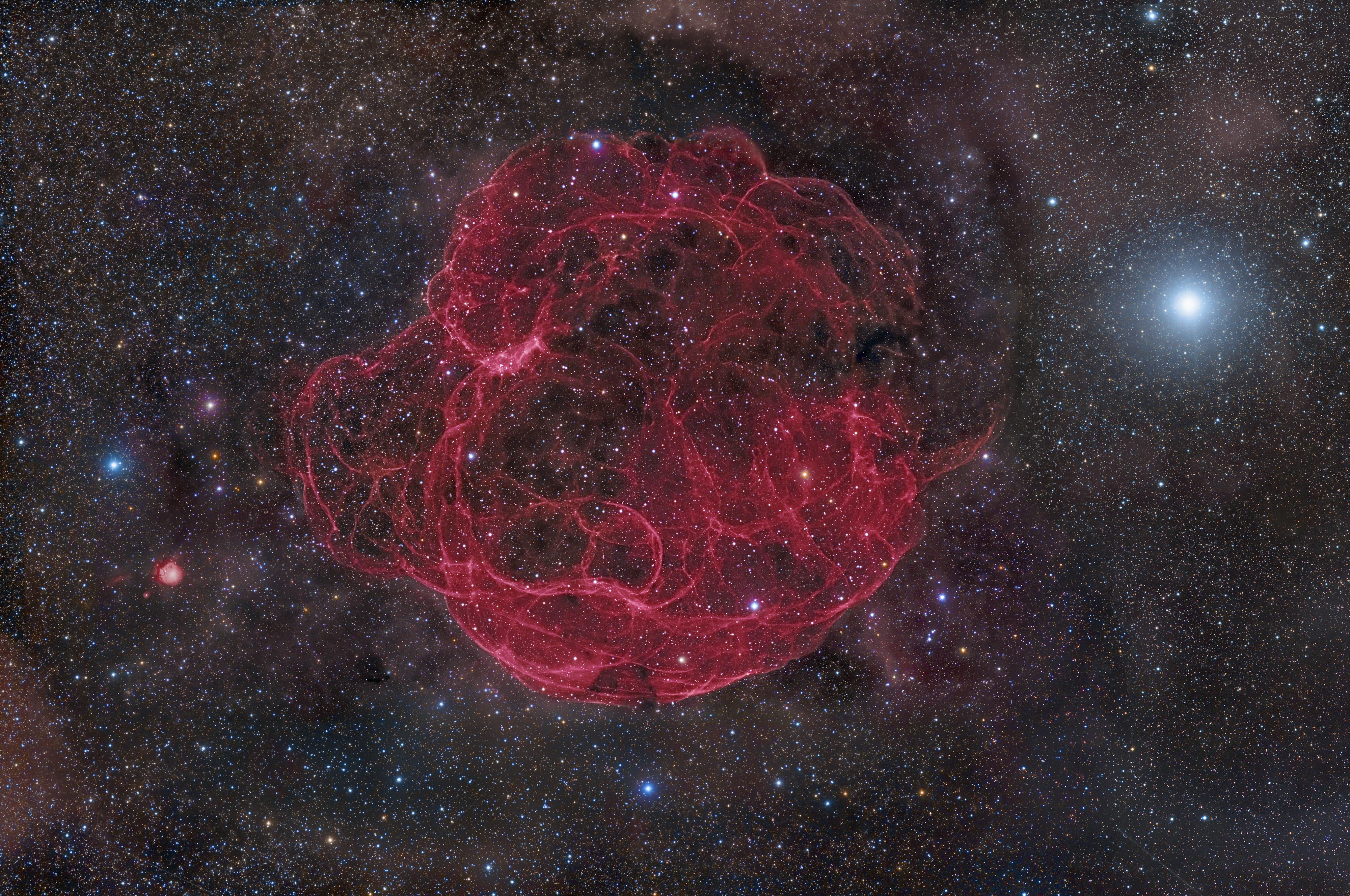 Apod 2012 october 9 simeis 147 supernova remnant for Wallpaper remnants