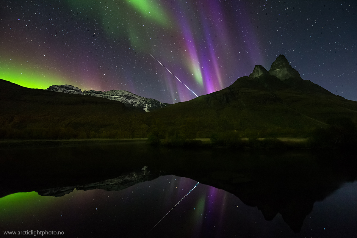 NASA Astronomy Picture of the Day Aurora and Fireball Over Norway