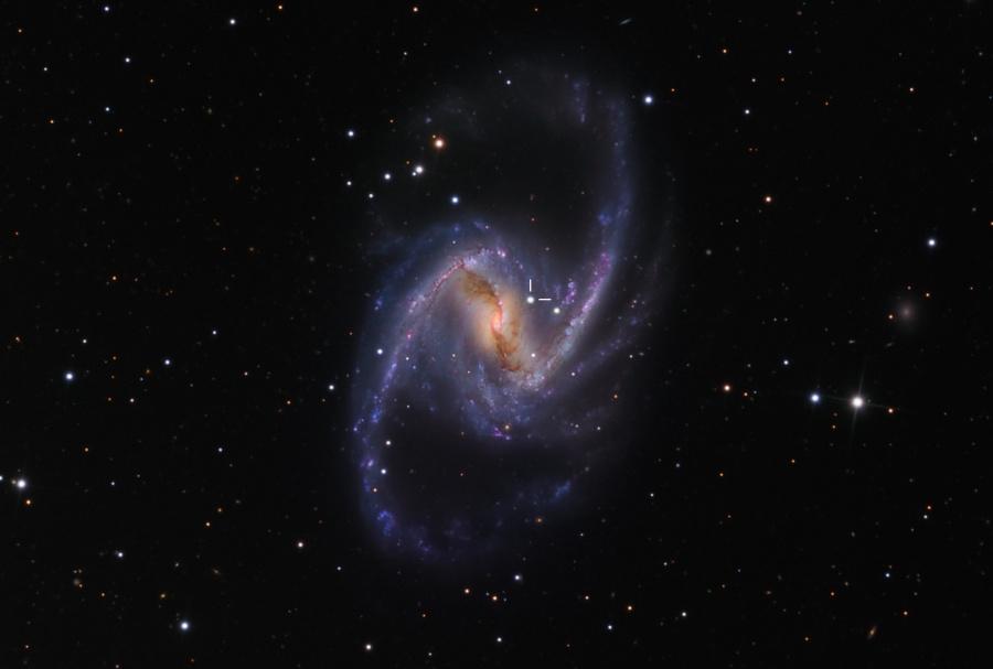 NGC 1365: una espiral majestuosa con una supernova