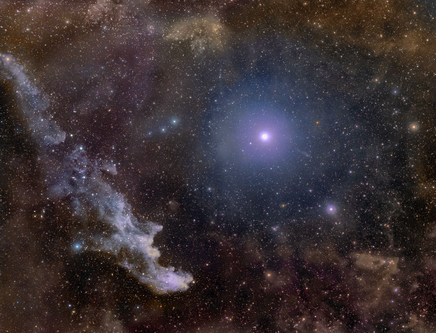 Rigel y la nebulosa Cabeza de Bruja