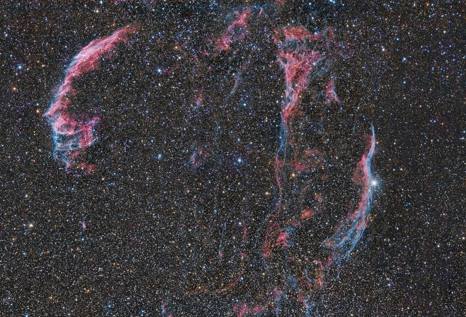 Copos de la nebulosa del Velo