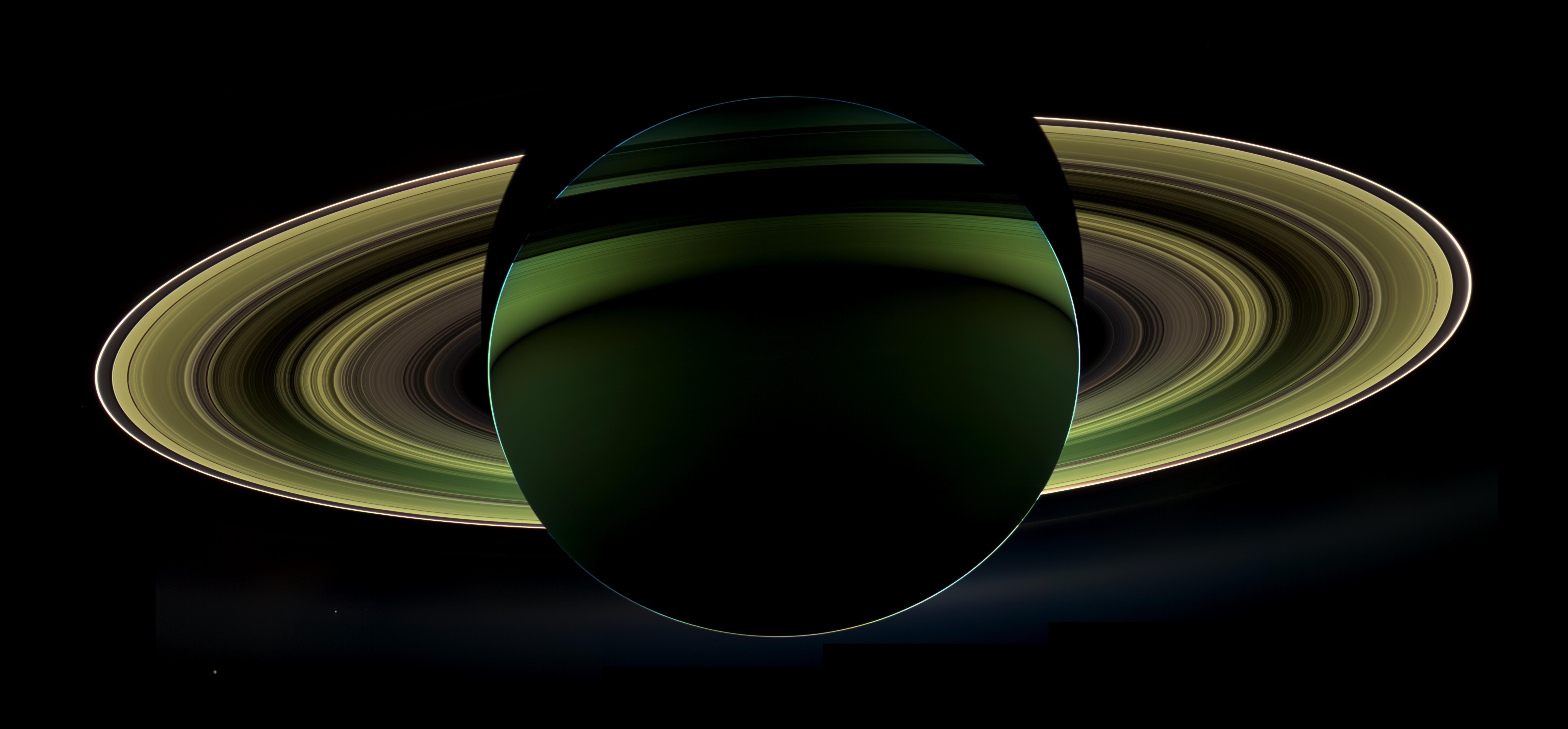 Saturn at night NASA