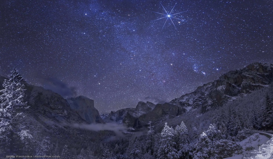 APOD: 2012 December 25 - Yosemite Winter Night