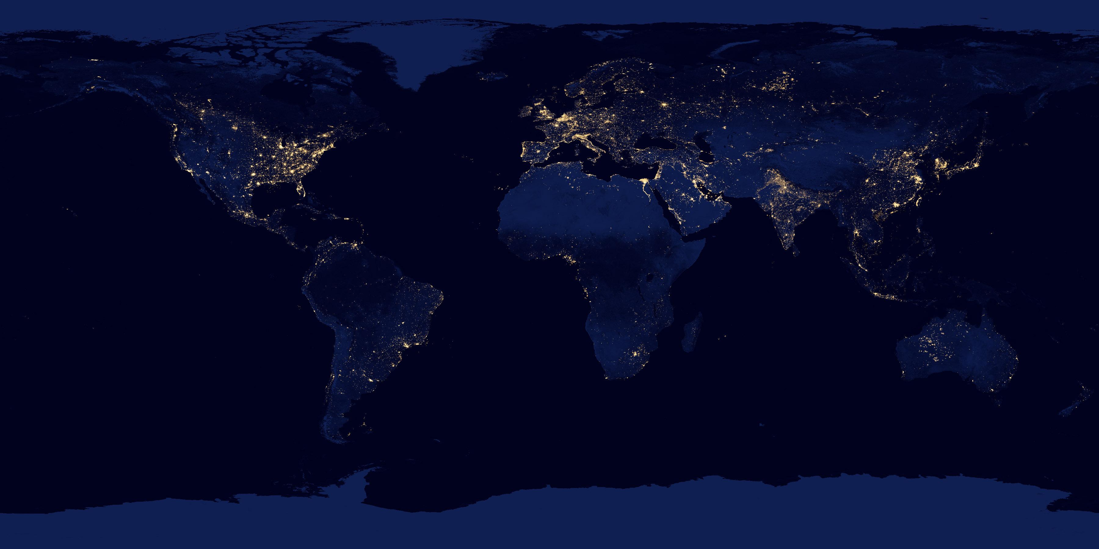 La Tierra De Noche Imagen Astronomía Diaria Observatorio