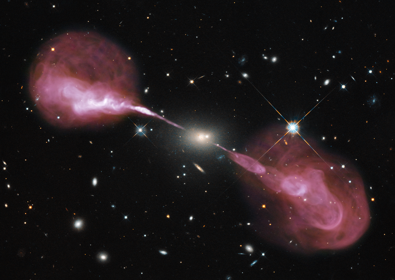 Jets from galaxy Hercules A