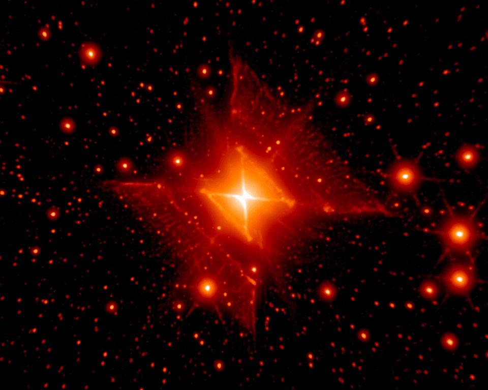 MWC 922: la nebulosa Roja Cuadrada