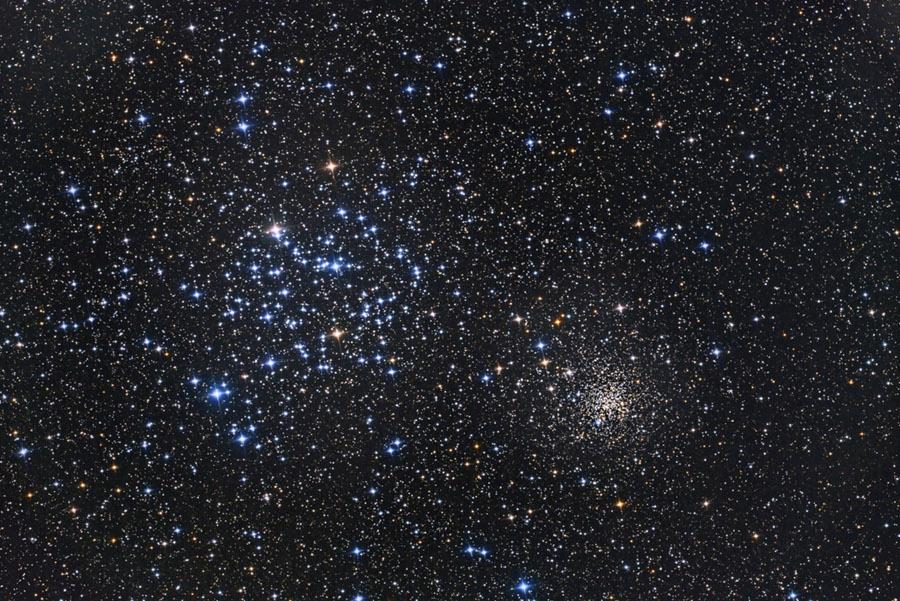 Los cúmulos estelares abiertos M 35 y NGC 2158