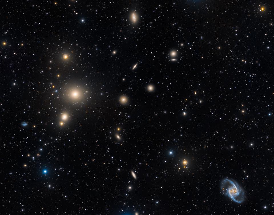 El cúmulo de galaxias Fornax