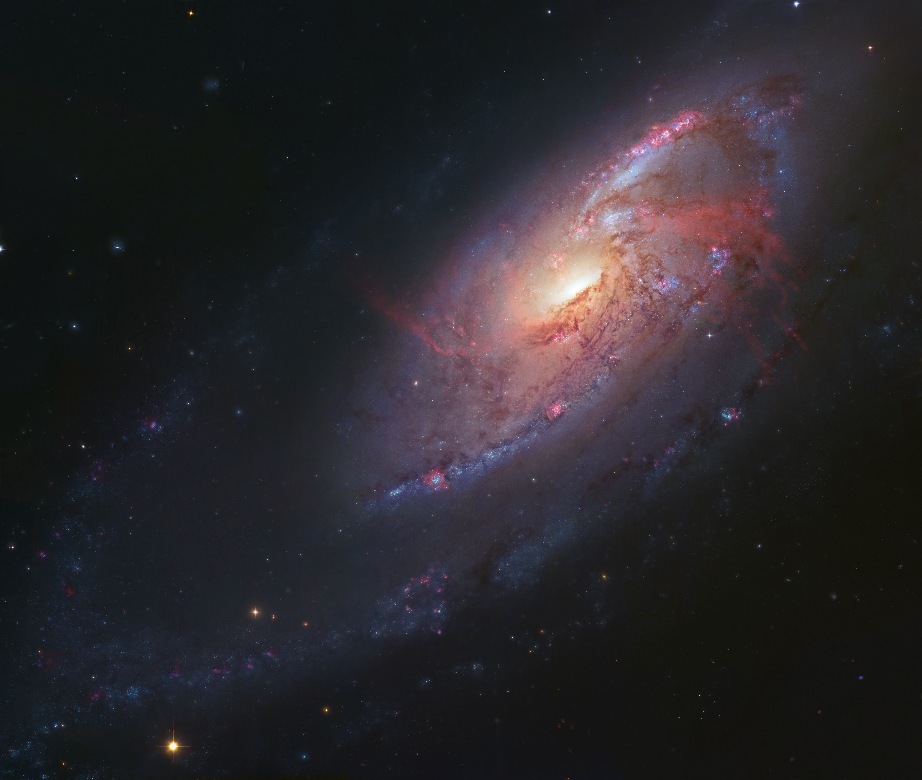 APOD: 2013 February 6 - The Arms of M106