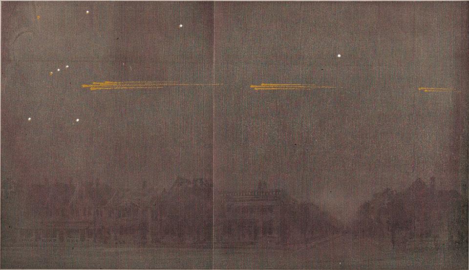 La gran procesión de meteoritos de 1913