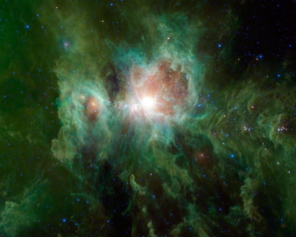 Orión en infrarrojo desde el WISE