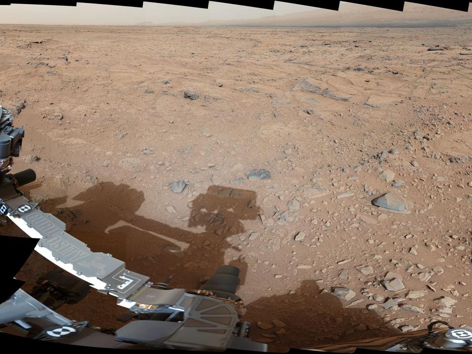 Marte: sombra en Point Lake